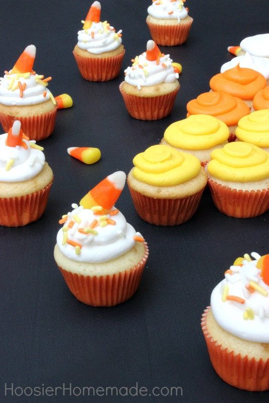 Mini Halloween Cupcakes  Mini Candy Corn Cupcakes Hoosier Homemade