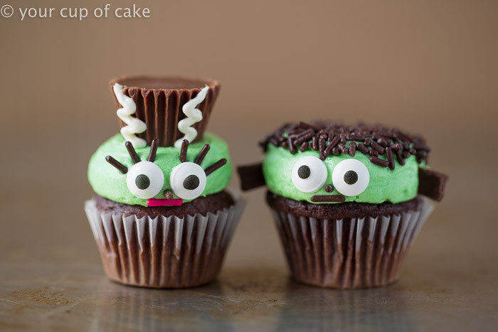 Mini Halloween Cupcakes  Mr and Mrs Frankenstein Mini Cupcakes Your Cup of Cake
