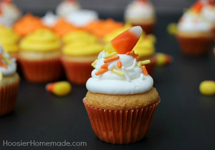 Mini Halloween Cupcakes  Fall Cupcakes and Toppers Hoosier Homemade