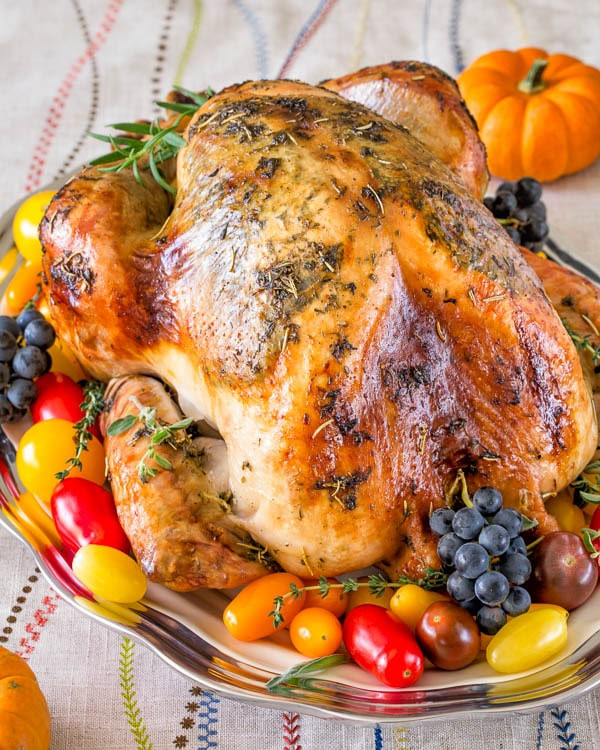 Moist Thanksgiving Turkey Recipe  Super Juicy No Brine Roast Turkey Video Sweet & Savory