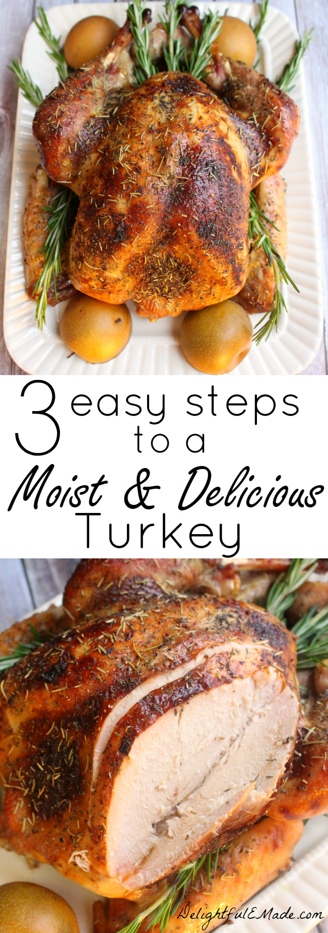 Moist Thanksgiving Turkey Recipe  Tired of dry bland turkey I ll show you three easy steps