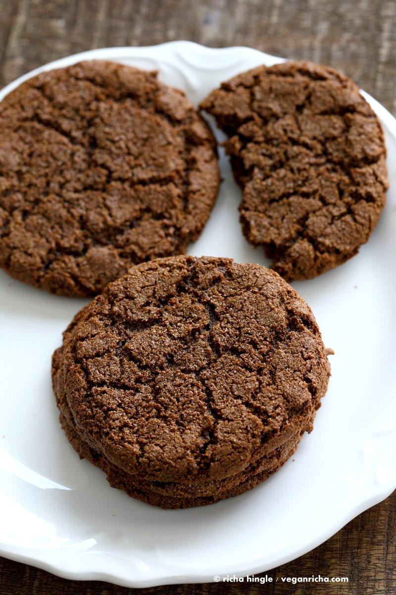 Molasses Christmas Cookies  1 Bowl Giant Molasses Cookies Vegan Richa