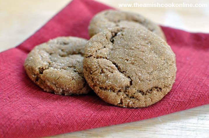 Molasses Christmas Cookies  Holiday Molasses Cookies Amish 365 amish recipes