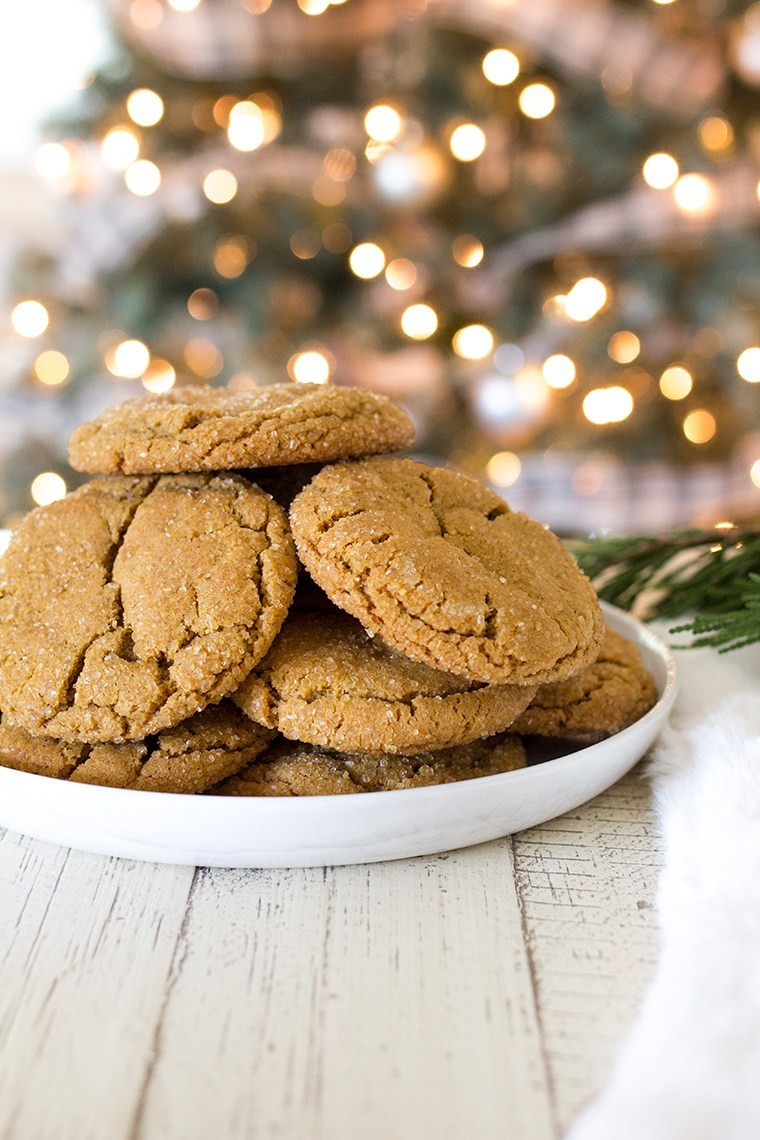 Molasses Christmas Cookies  Chewy Ginger Molasses Cookies Freutcake