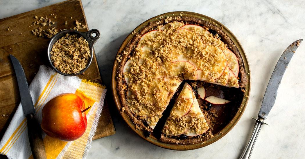 New York Times Vegan Thanksgiving  Ve arian Thanksgiving No Bake Apple Pie The New York