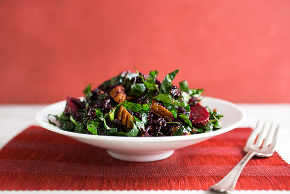 New York Times Vegan Thanksgiving  Ve arian Thanksgiving Rice Beet and Kale Salad With