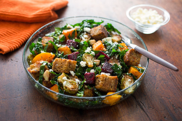 New York Times Vegan Thanksgiving  Ve arian Thanksgiving Bread Salad Inspired by Stuffing