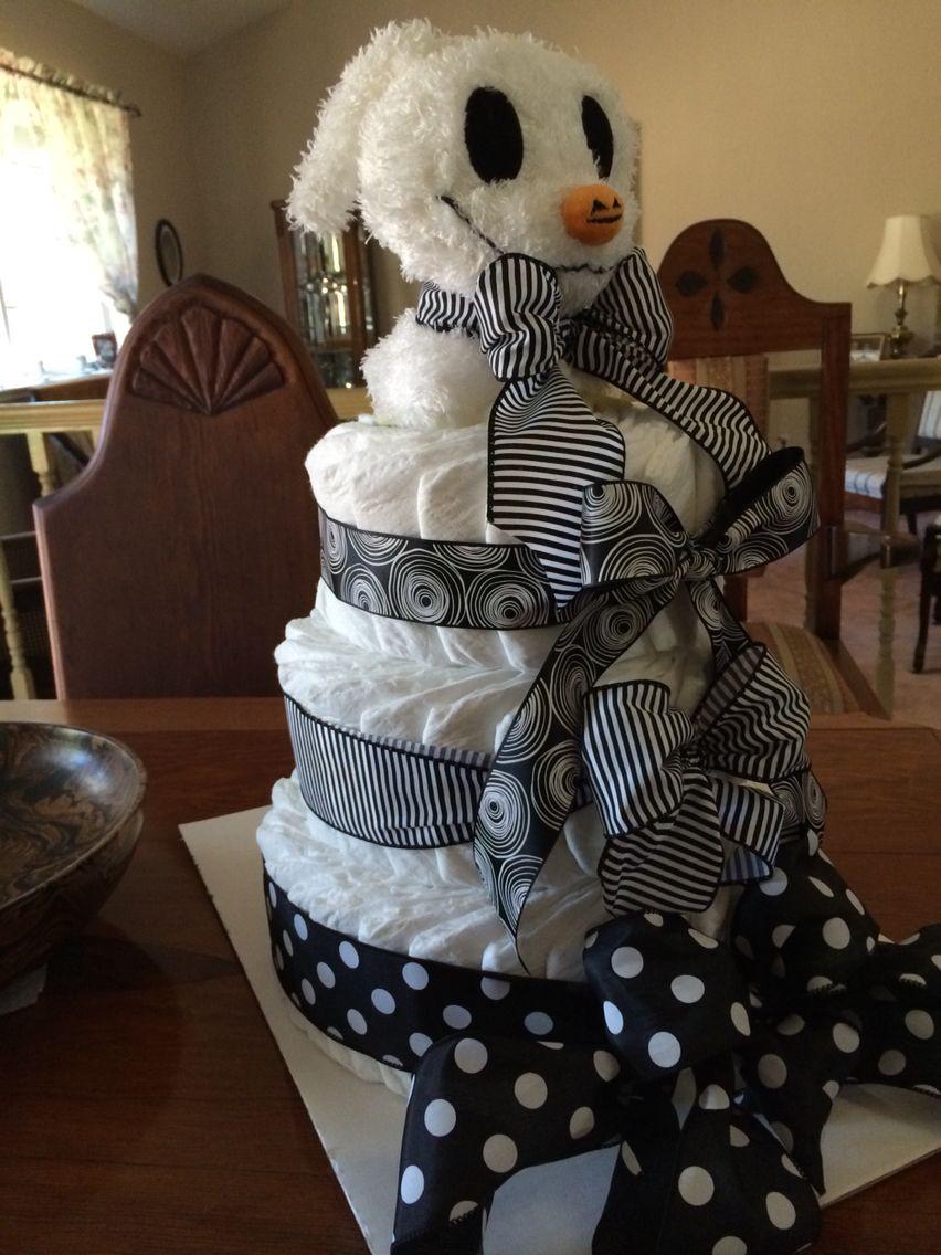Nightmare Before Christmas Baby Shower Cakes  Diaper Cake