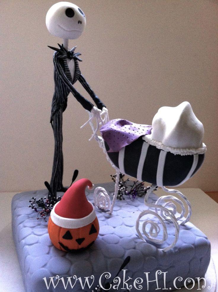 Nightmare Before Christmas Baby Shower Cakes  Nightmare before Christmas Baby shower cake