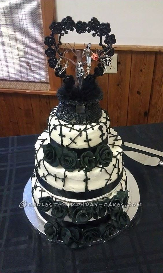 Nightmare Before Christmas Cakes Decorations  Christmas wedding cakes Nightmare before christmas