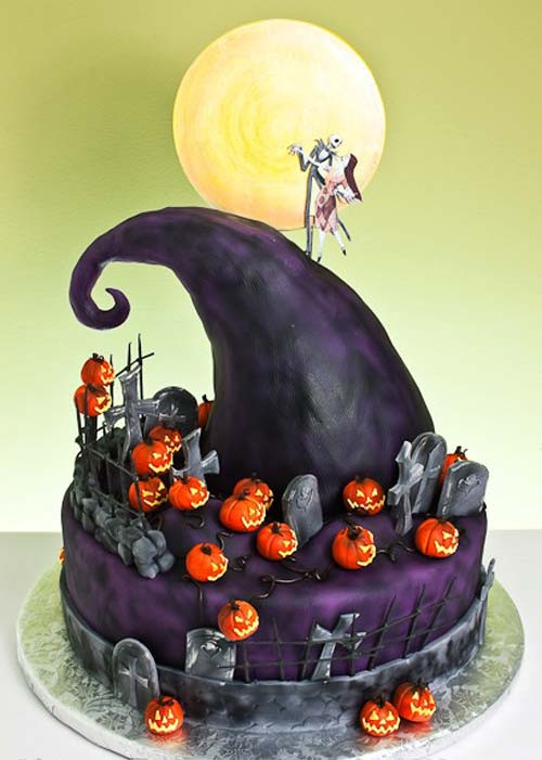 Nightmare Before Christmas Cakes Decorations  Cake birthday ideas Cake birthday party Cake birthday