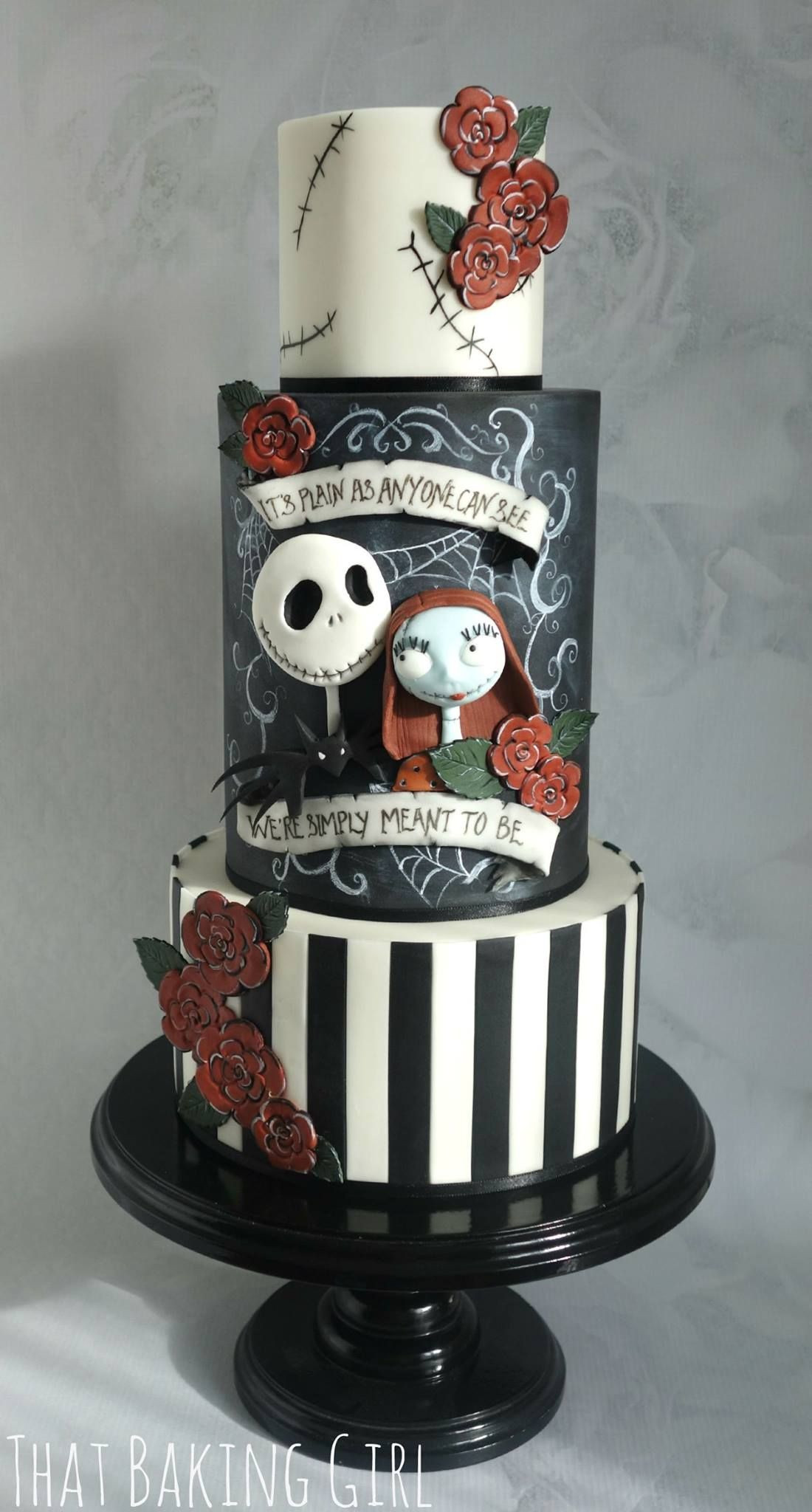 Nightmare Before Christmas Cakes Decorations  we re simply meant to be nightmare before christmas