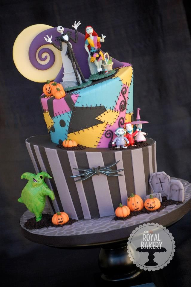 Nightmare Before Christmas Cakes Decorations  Nightmare Before Christmas cake Nbc