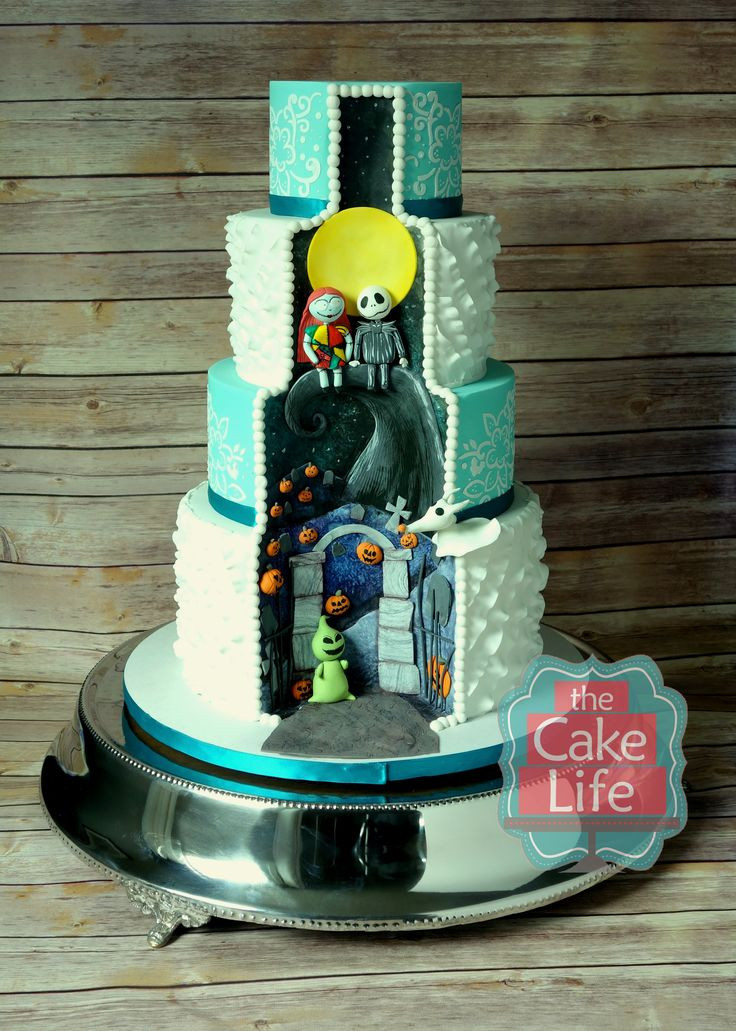Nightmare Before Christmas Cakes Decorations  77 best images about Disney Wedding Cakes on Pinterest