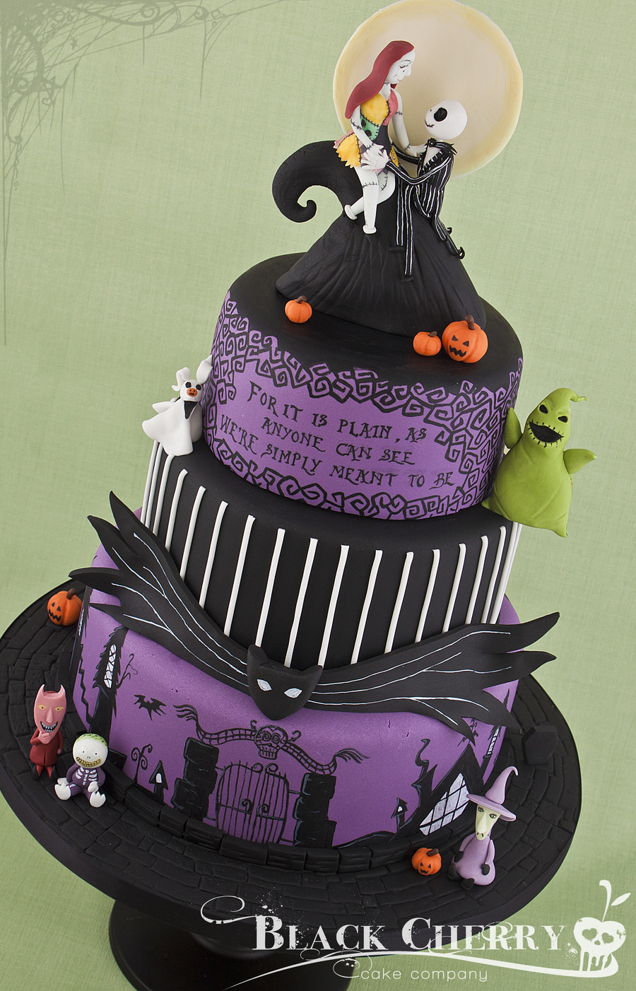 Nightmare Before Christmas Cakes Decorations  Nightmare Before Christmas Wedding Cake CakeCentral