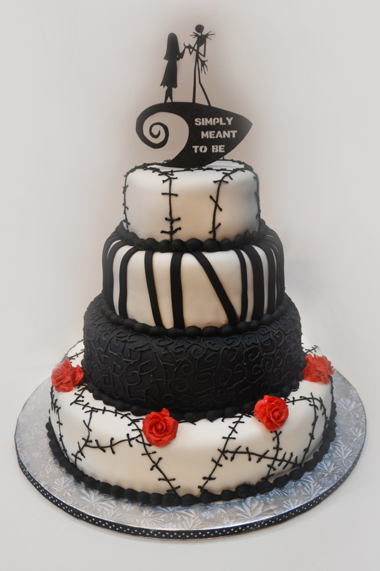 Nightmare Before Christmas Cakes Decorations  Nightmare Before Christmas wedding – ronna s cake blog