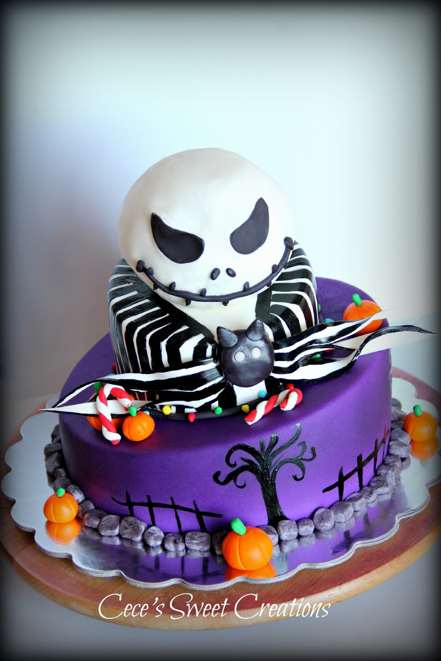 Nightmare Before Christmas Cakes Decorations  Jack From Nightmare Before Christmas Cake CakeCentral
