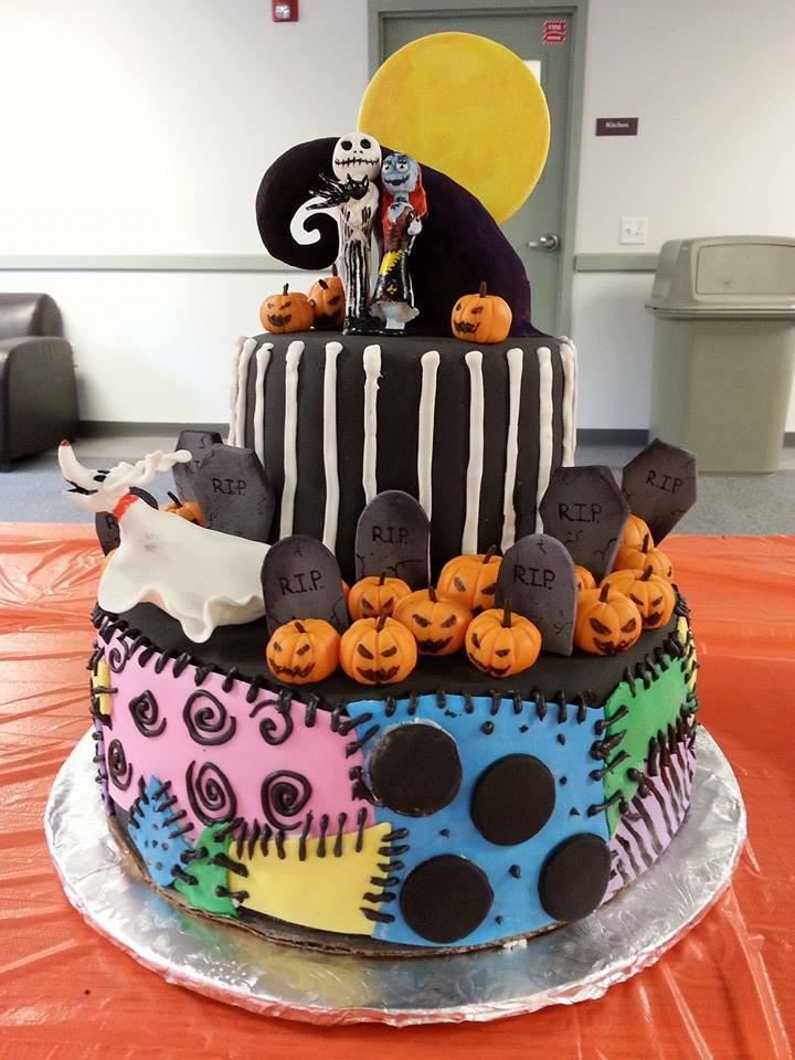 Nightmare Before Christmas Cakes Decorations  Nightmare Before Christmas Midterm Cake