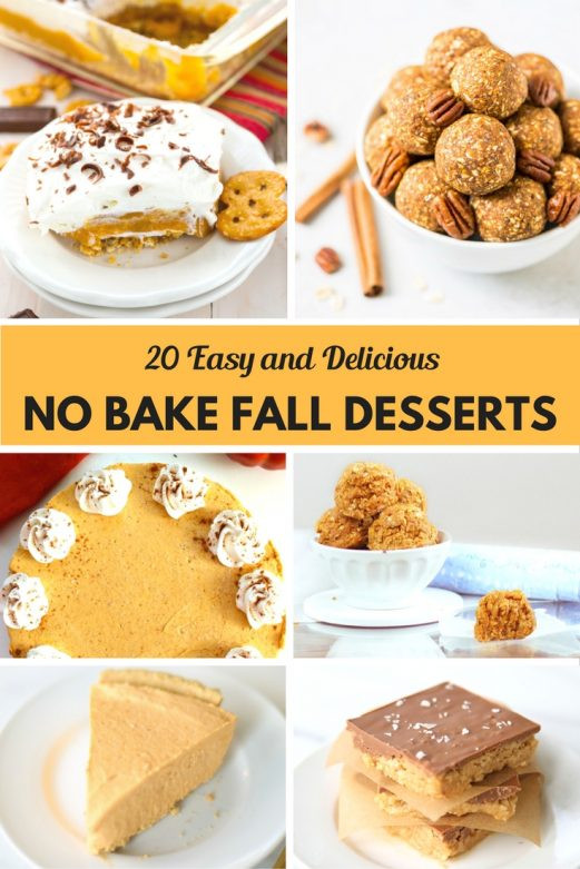 No Bake Fall Desserts  20 Easy and Delicious No Bake Fall Desserts