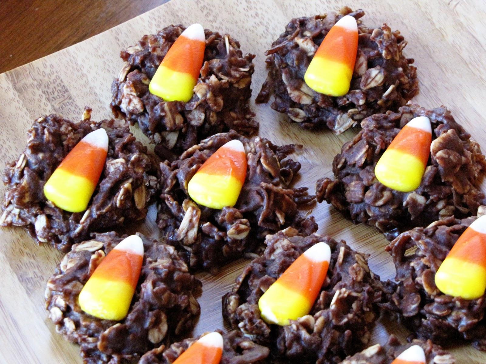 No Bake Halloween Cookies  halloween no bake cookies