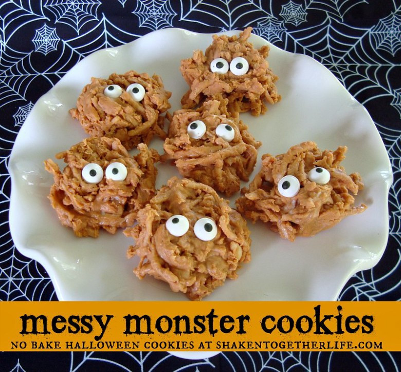 "No Bake Halloween Cookies  ""Inspire Me Please"" Weekend Blog Hop 33 Love of Family"