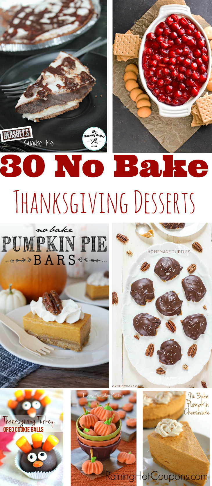 No Bake Thanksgiving Desserts  30 No Bake Desserts Perfect for Thanksgiving