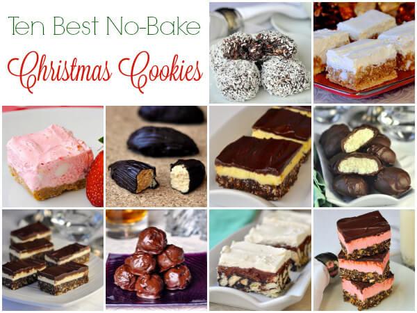 No Baking Christmas Treats  10 Best No Bake Christmas Cookies freezer friendly too