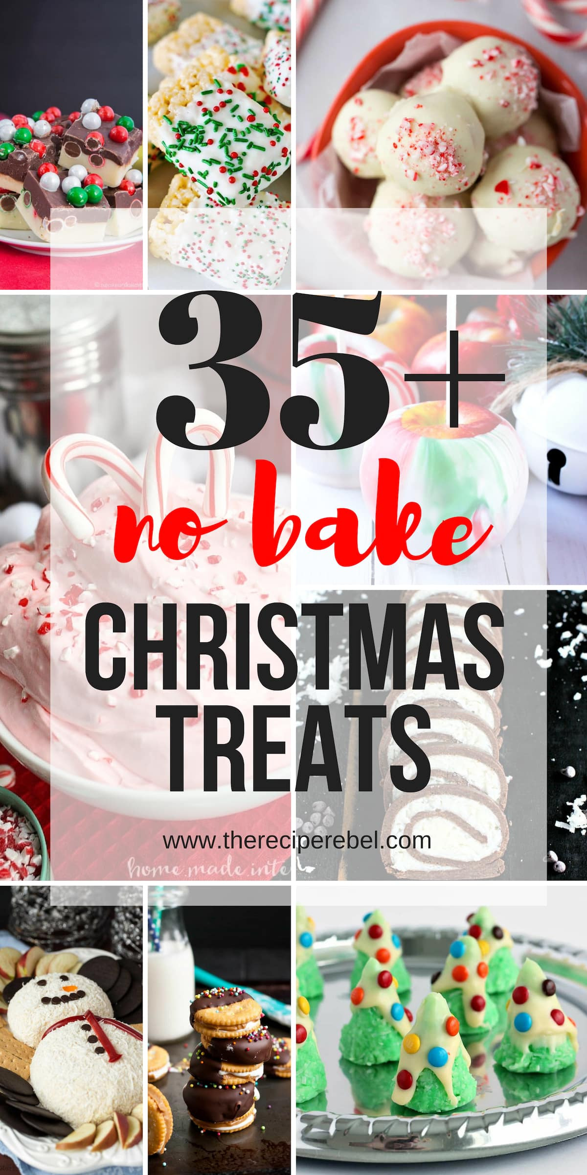 No Baking Christmas Treats  25 Easy Christmas Treats no bake Christmas cookies