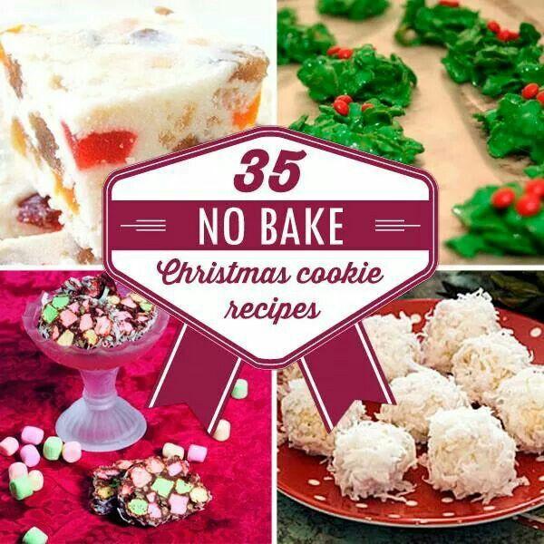 No Baking Christmas Treats  No Bake Christmas Cookies Food and beverages