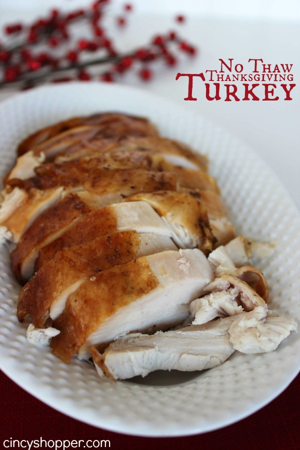 No Turkey Thanksgiving  No Thaw Thanksgiving Turkey Recipe CincyShopper