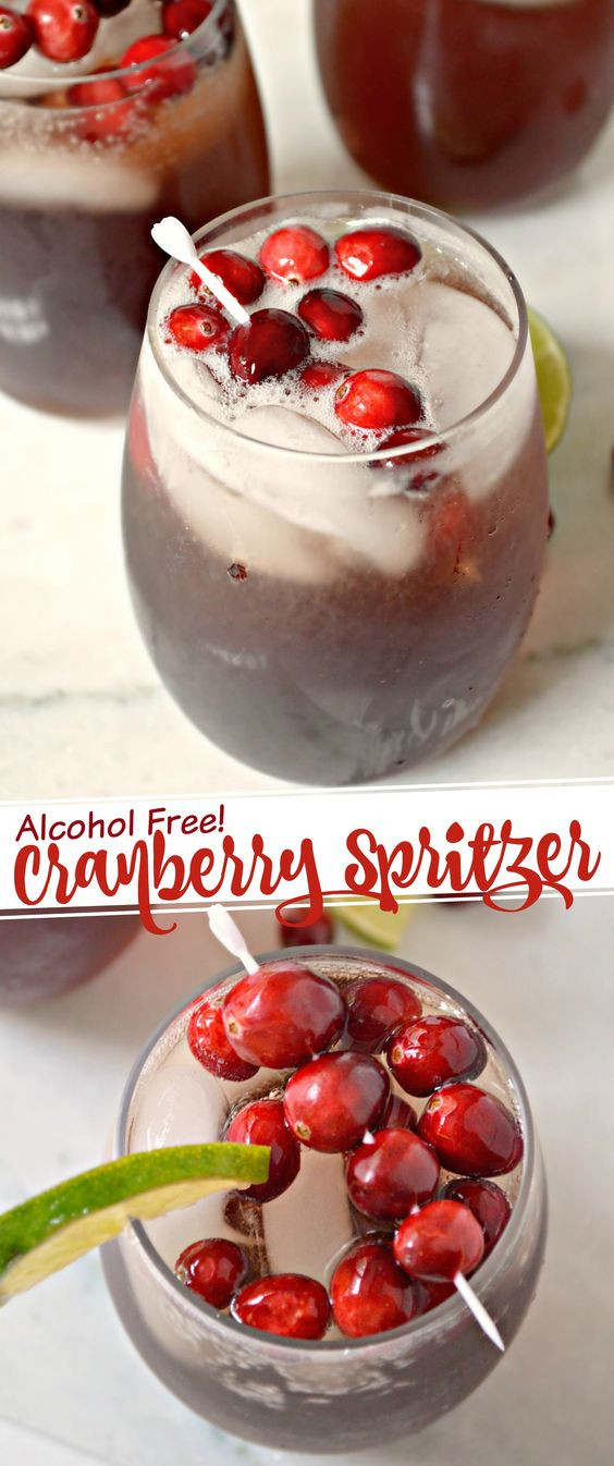 Non Alcoholic Drinks For Thanksgiving  Non Alcoholic Cranberry Spritzer Recipe
