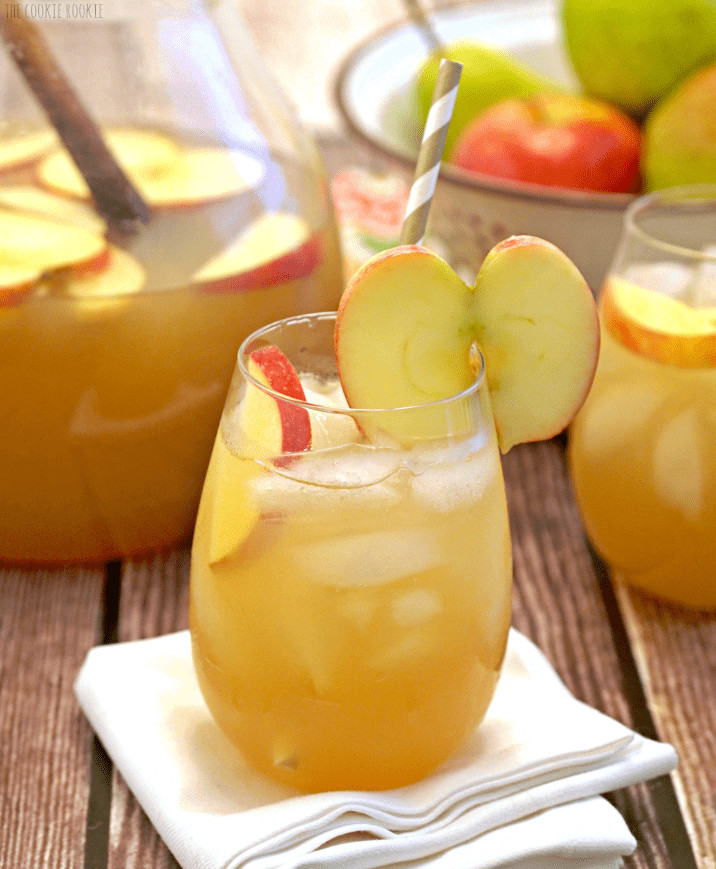 Non Alcoholic Drinks For Thanksgiving  Apple Pie Punch The Cookie Rookie
