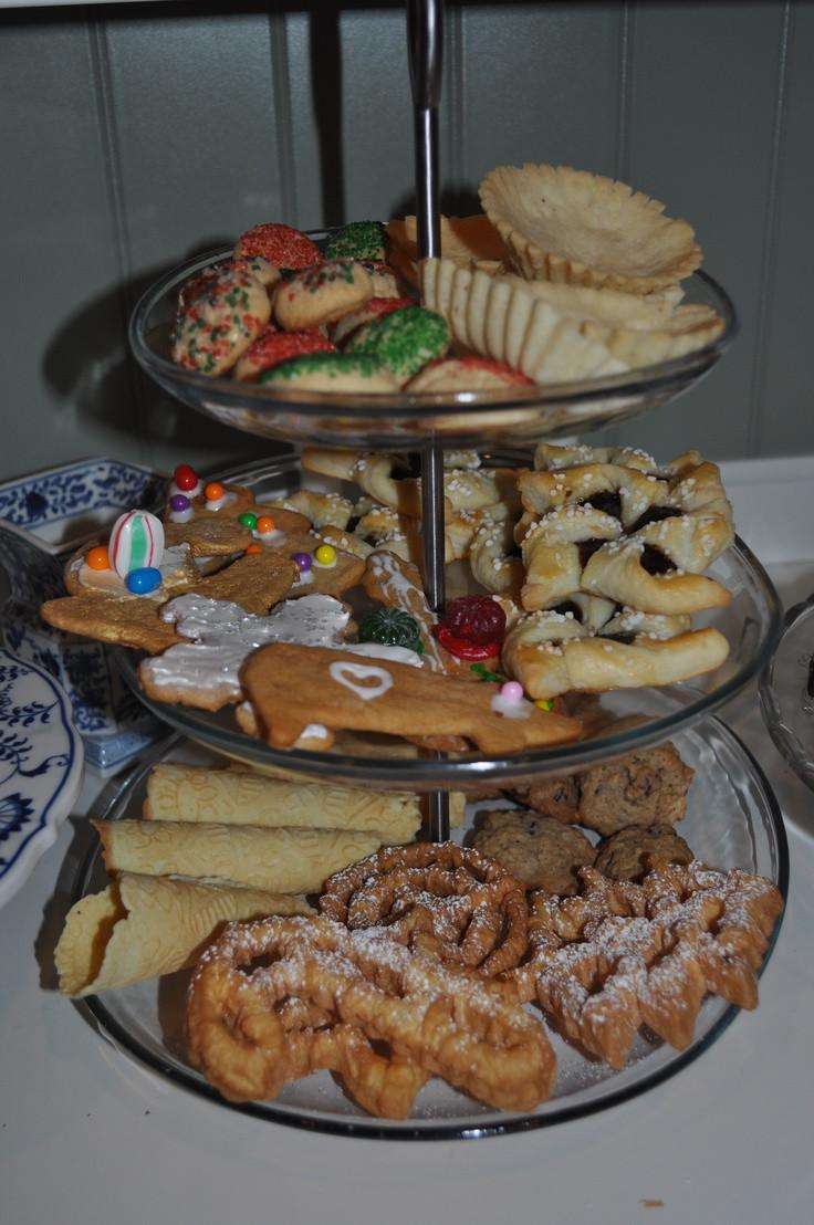 Norwegian Christmas Desserts  Nice display of Scandinavian Christmas cookies