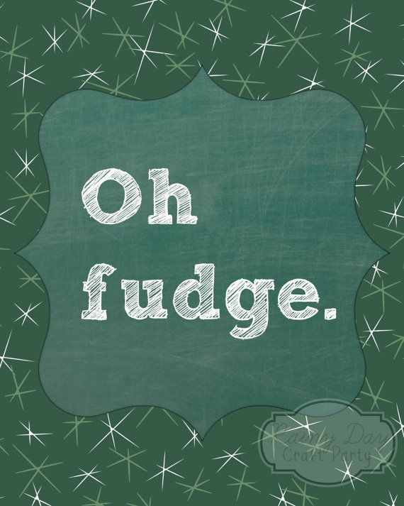 Oh Fudge Christmas Story  Oh Fudge A Christmas Story inspired 8x10 poster