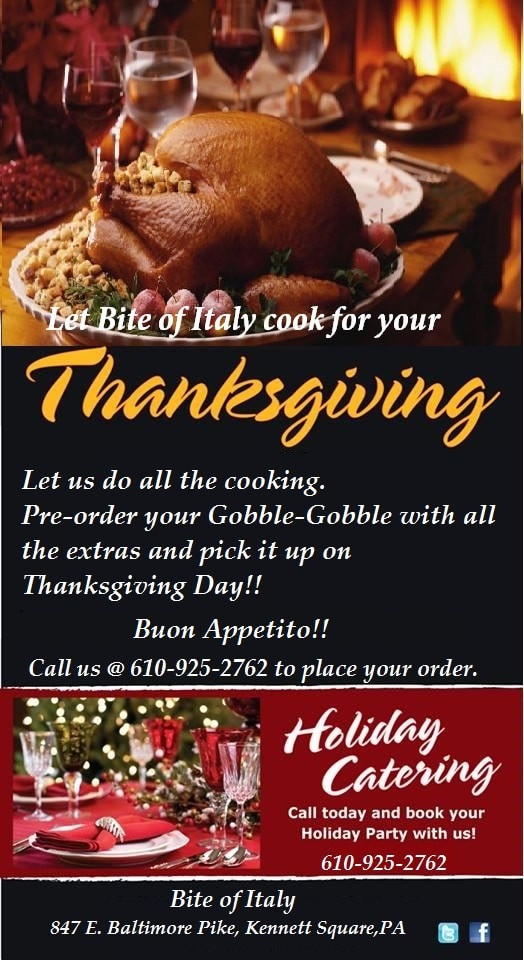 Order Cooked Turkey For Thanksgiving  Skip the Cooking This Holiday Book Bite of Italy to Cook