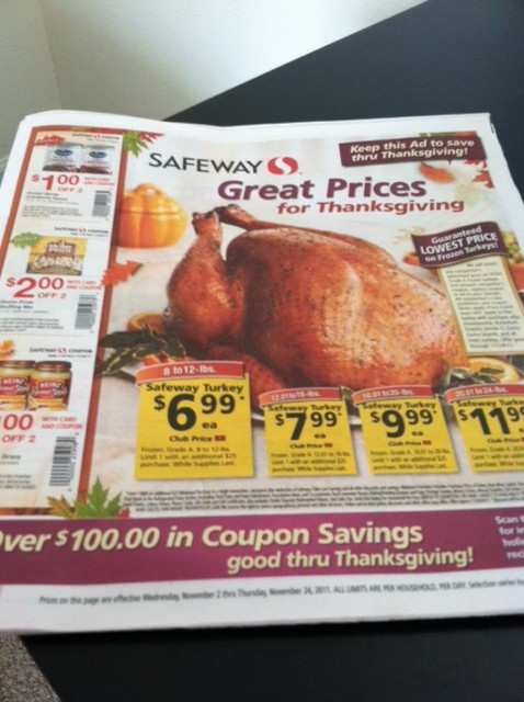 Order Thanksgiving Dinner Safeway  Thanksgiving Coupons and Deals at Safeway 2011