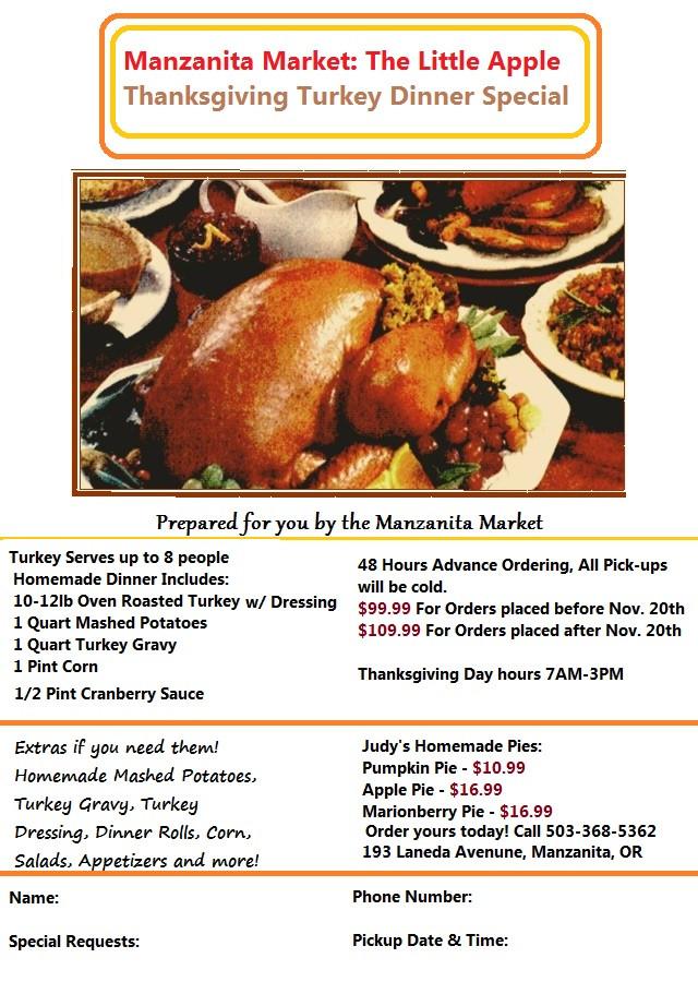 Order Turkey For Thanksgiving  Thanksgiving Turkey Orders & Our 2014 Dinner Flyer