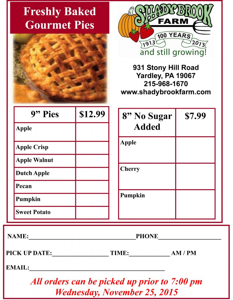 Order Turkey For Thanksgiving  Turkey and Pie Order Form