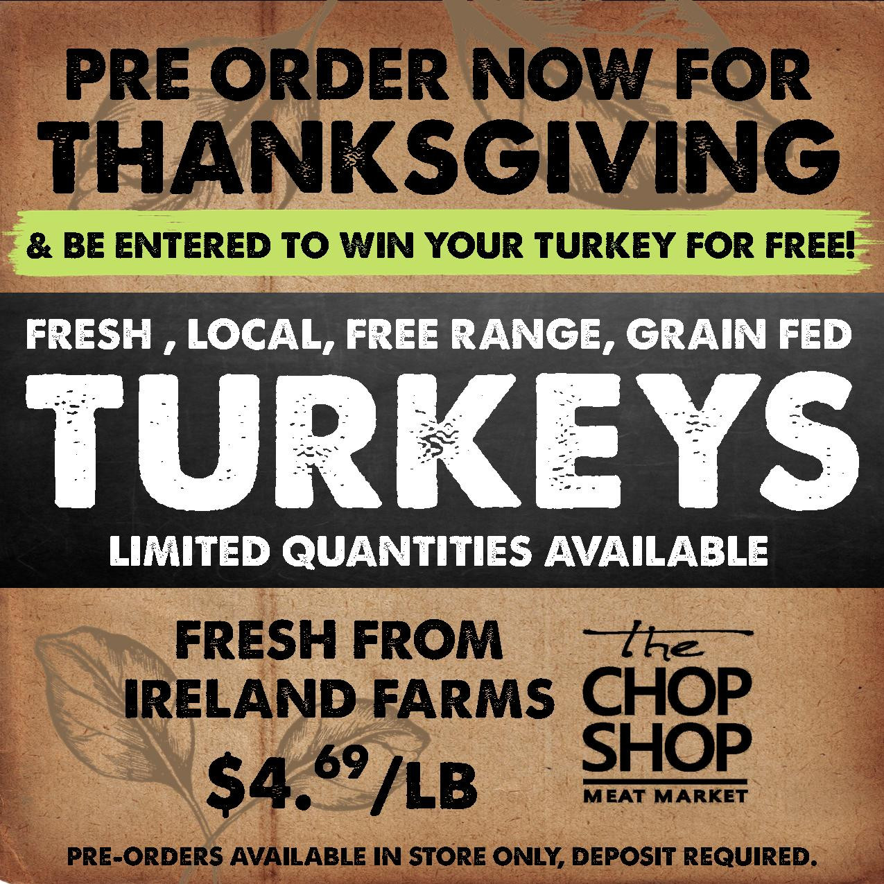 Order Turkey For Thanksgiving  Pre order your Thanksgiving Turkey now