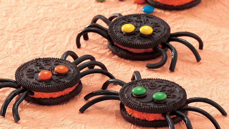 Oreo Halloween Cookies  Spooky Spider Cookies recipe from Betty Crocker