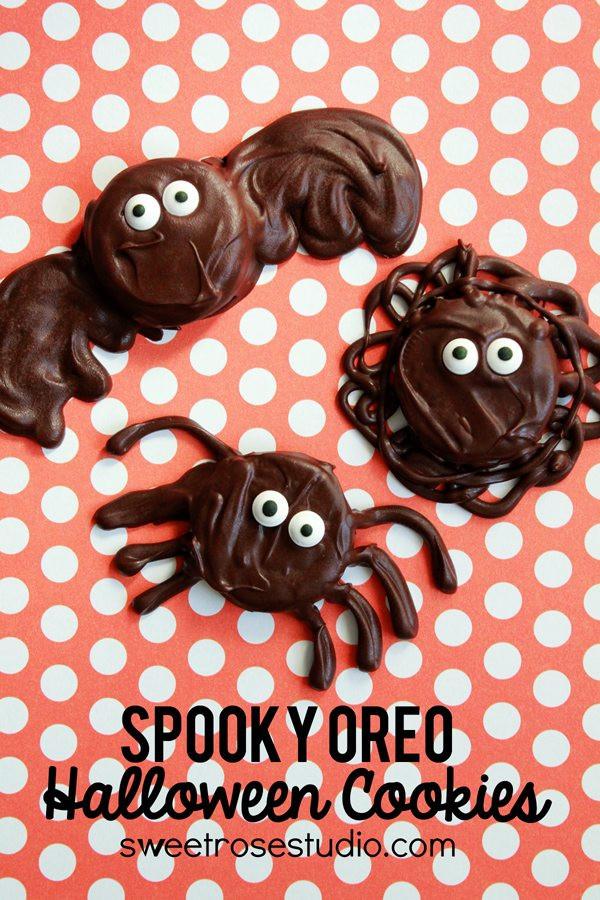 Oreo Halloween Cookies  40 Kid Halloween Food Ideas
