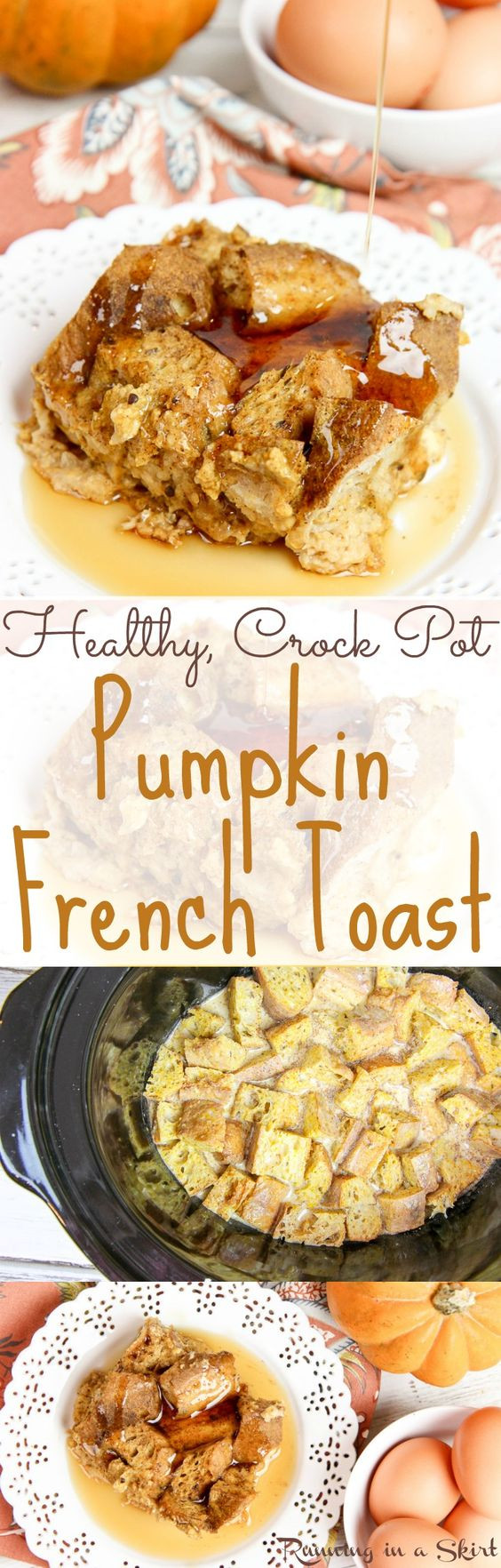 Overnight Crock Pot French Toast Great For Christmas Morning  Healthy Crock Pot Pumpkin French Toast casserole recipe