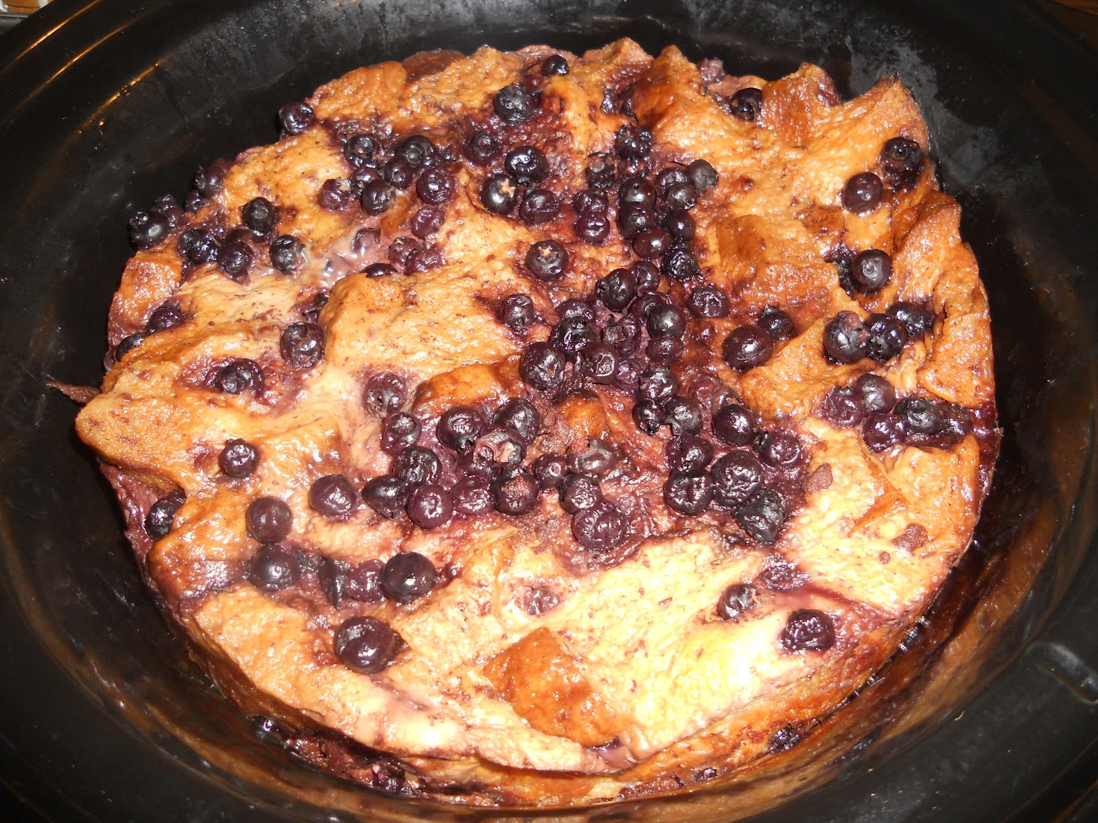 Overnight Crock Pot French Toast Great For Christmas Morning  a Latte with Ott A Crock Pot Blueberry French Toast
