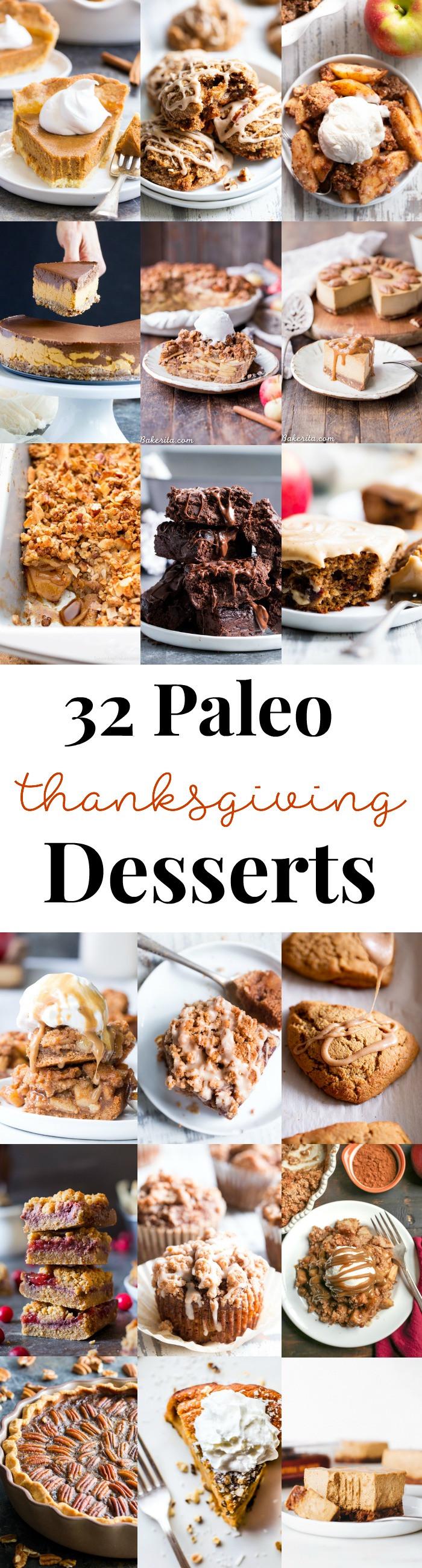Paleo Thanksgiving Dessert  32 Paleo Thanksgiving Desserts