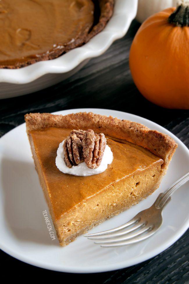 Paleo Thanksgiving Dessert  Vegan Pumpkin Pie paleo grain free gluten free dairy