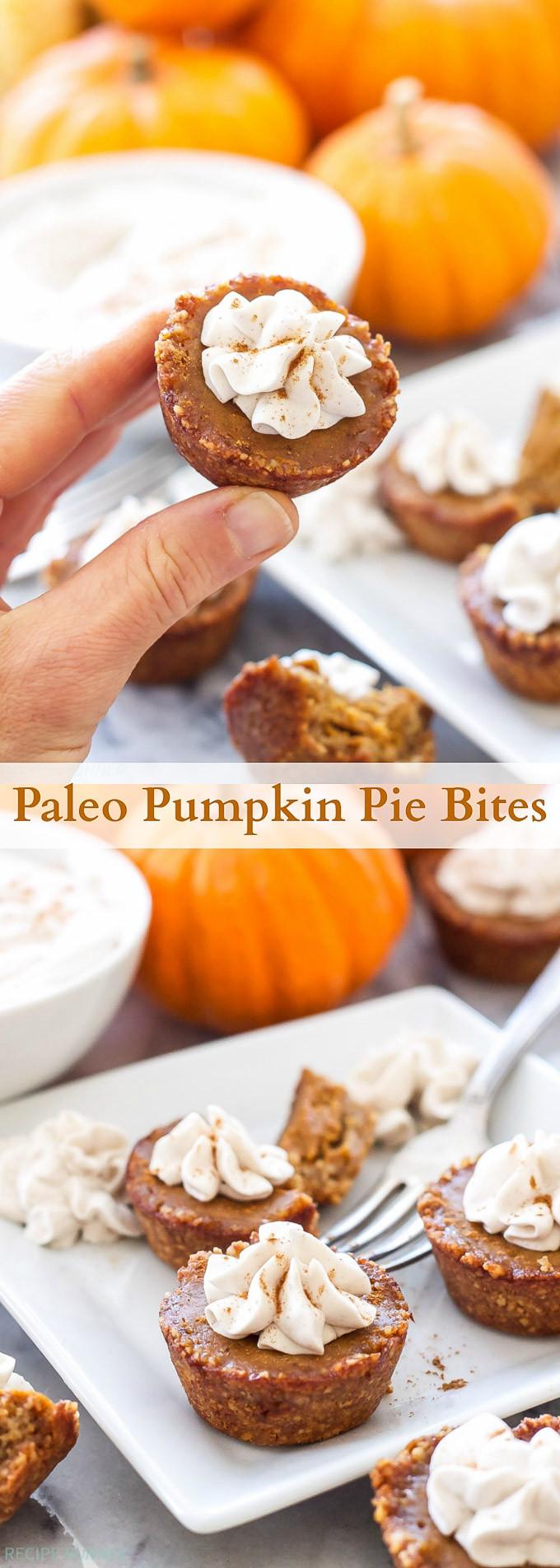 Paleo Thanksgiving Dessert  Paleo Pumpkin Pie Bites Recipe Runner