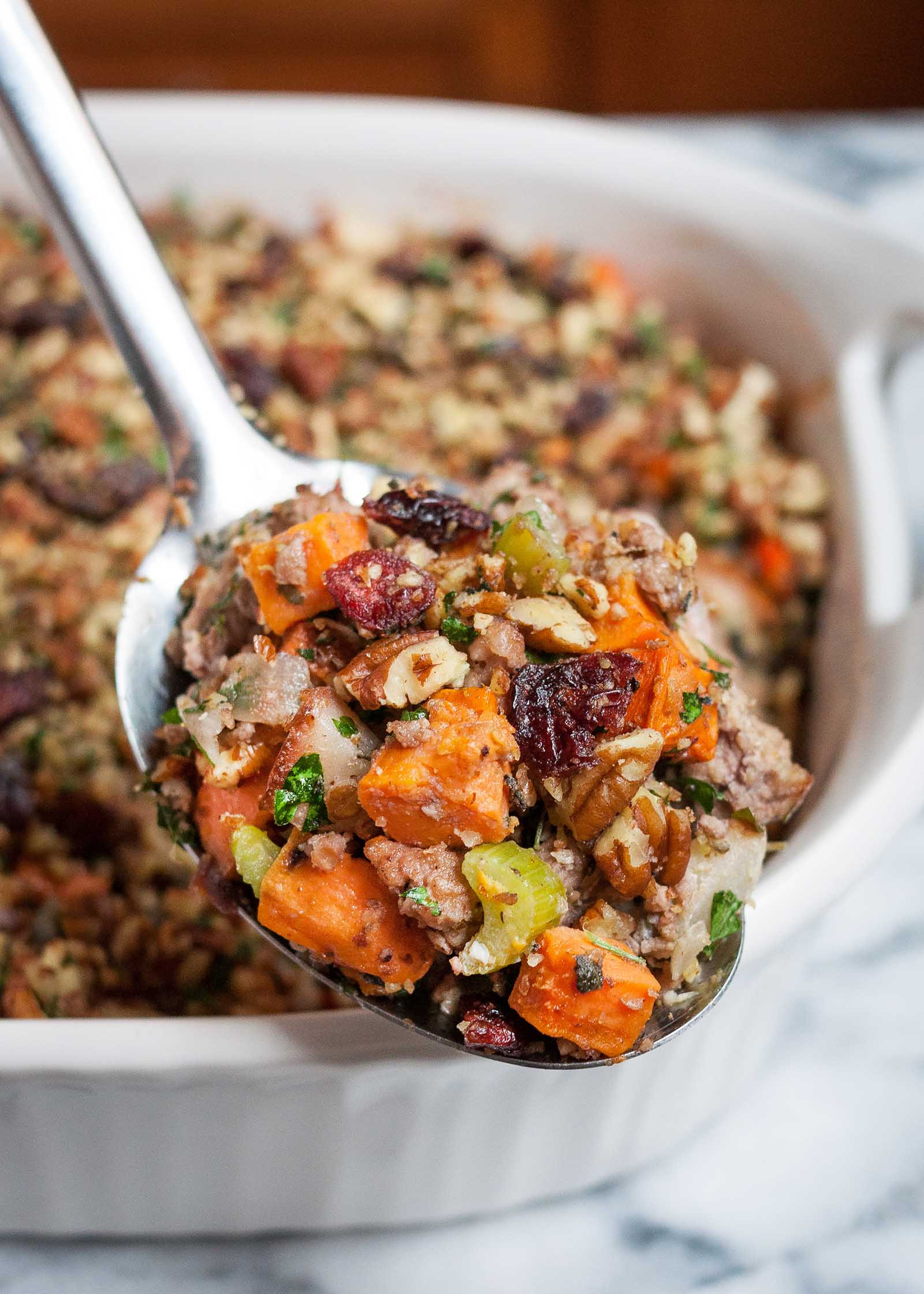 Paleo Thanksgiving Stuffing  Sweet Potato & Pork Thanksgiving Stuffing Paleo Gluten