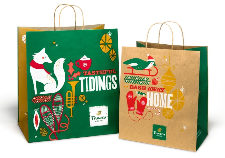 Panera Bread Christmas  Panera Bread 2013 Holiday branding by Willoughby Design