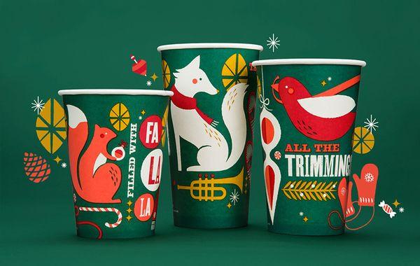 Panera Bread Christmas  Enchanting Christmas Cups Panera Bread Holiday Branding