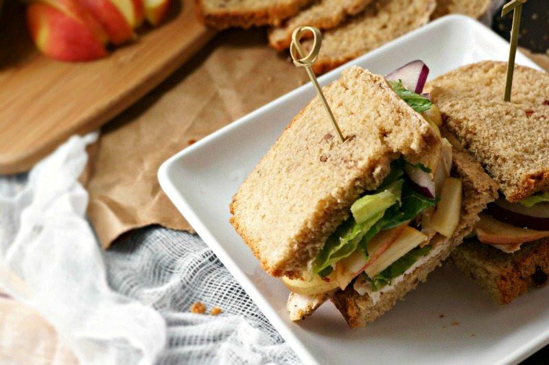 Panera Bread Thanksgiving  Roasted Turkey Apple and Cheddar Sandwich